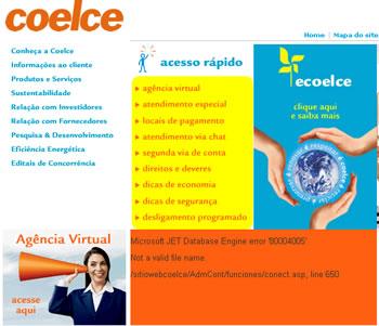 Print do site da Coelce
