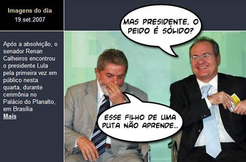 Renan Calheiros e Lula