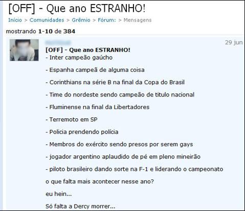 Previsão no Orkut