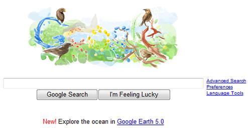 Logo do Google em Homenagem a Charles Darwin